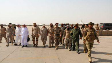 صورة اللواء بن بريك يستقبل لجنة عسكرية سعودية من التحالف العربي