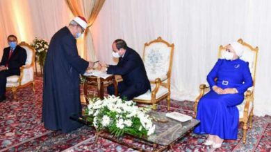 صورة عقد قران بحضور رئاسي.. السيسي وكيلا للعروس