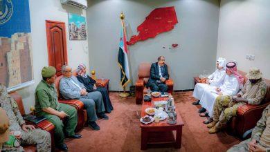 صورة اللواء بن بريك يلتقي فريق التنسيق السعودي لتنفيذ اتفاق الرياض ويؤكد حرص المجلس على إنجاح مهامه