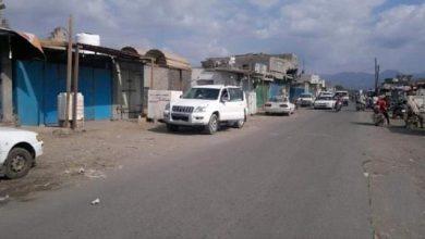 صورة اضراب شامل للمحلات التجارية بشقرة بعد اعتداء مليشيا الإخوان على أحد التجار