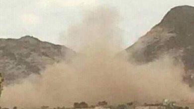 صورة الضالع.. قذيفة حوثية تدمر منزلاً شمال قعطبة