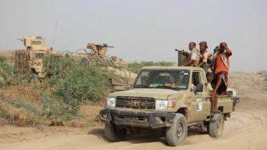 صورة القوات المشتركة تحقق إصابات مباشرة في صفوف الحوثيين شمال الدريهمي