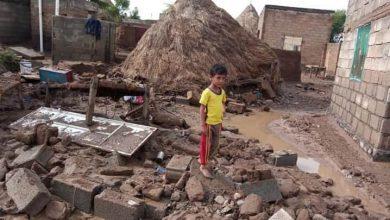 صورة الأمم المتحدة: نزوح ثان لآلاف الأسر اليمنية بسبب السيول