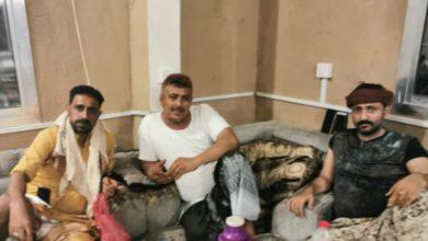 صورة مدير أمن محافظة لحج في اجتماع استثائي بقائد مكافحة الإرهاب ومدير شرطة الحوطة