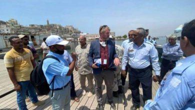 صورة وفد أممي يزور مقر مصلحة خفر السواحل في العاصمة عدن