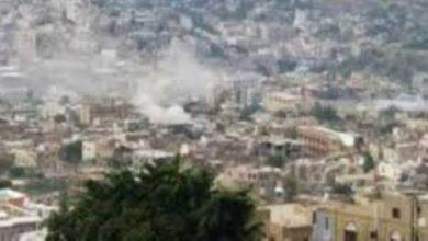 صورة مليشيا الحوثي تستهدف الأحياء السكنية شرقي تعز