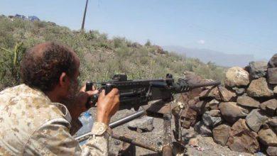 صورة الضالع.. اشتباكات عنيفة بين القوات الجنوبية ومليشيات الحوثي في جبهة مريس
