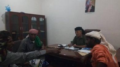 صورة رئيس انتقالي أبين يتلمس أوضاع مقاومة مديرية أحور