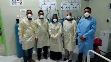 صورة سوقي والشبحي يتفقدان سير العمل في مركز العزل بمستشفى الجمهورية