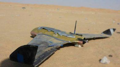 """صورة التحالف يدمر طائرة حوثية """"مفخخة"""" في الأجواء اليمنية"""