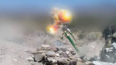 صورة الضالع.. القوات الجنوبية تستهدف بقذائف الهاون عربة بي ام بي حوثيه شمال الفاخر