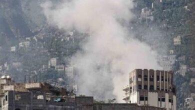 صورة مليشيا #الحوثي تقصف أحياء سكنية شرق #تعز وسقوط جرحى