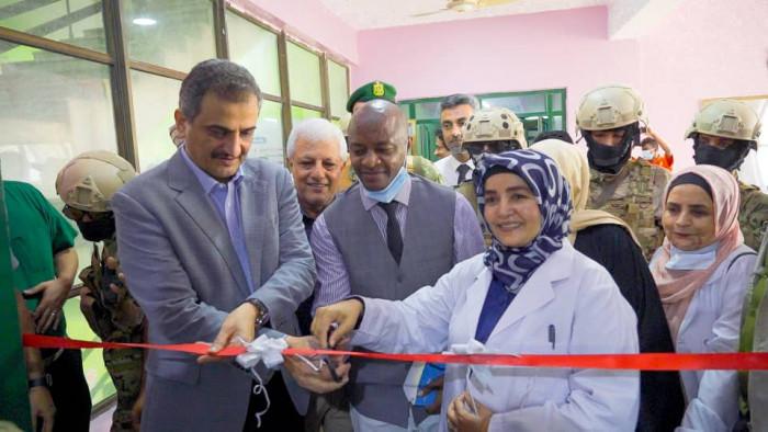 المحافظ لملس يفتتح قسم حديثي الولادة بمستشفى الصداقة في العاصمة عدن