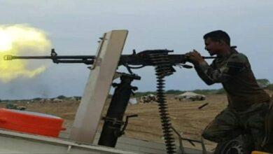 صورة مصرع وجرح عدد من العناصر الحوثية في محاولة هجومية فاشلة على الحدود الشرقية لمحافظة تعز