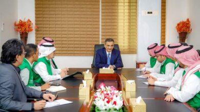 صورة المحافظ لملس يناقش مع وفد من #البرنامج_السعودي تدخلات البرنامج الحالية والمستقبلية في #العاصمة_عدن