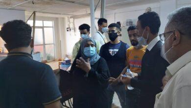 صورة السباعي تتفقد جاهزية مركز الأمل للعزل في #عدن