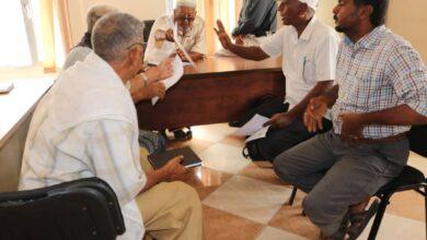 صورة إجتماع مشترك يناقش تنفيذ مشاربع تنموية في مديرية #الشيخ_عثمان
