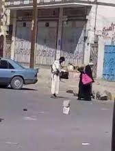 """صورة تضاف إلى جرائم المليشيات.. نقطة حوثية بالبيضاء تعتدي على امرأة بالضرب"""" وهذا ماحدث"""""""