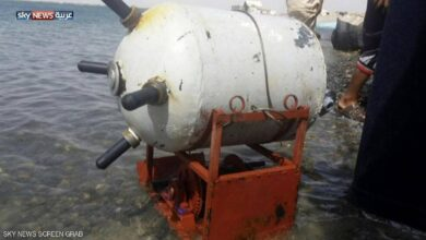 صورة التحالف: ارتطام سفينة شحن بلغم حوثي في البحر الأحمر