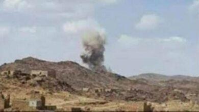 صورة #البيضاء.. إصابة امرأة بقصف حوثي على قرى #الزاهر