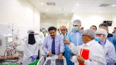 صورة لملس يفتتح مركز #غسيل_الكلى بمستشفى عبود العسكري