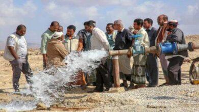 صورة حضرموت.. هلال الإمارات يفتتح بئرين مياه في مديرية الشحر