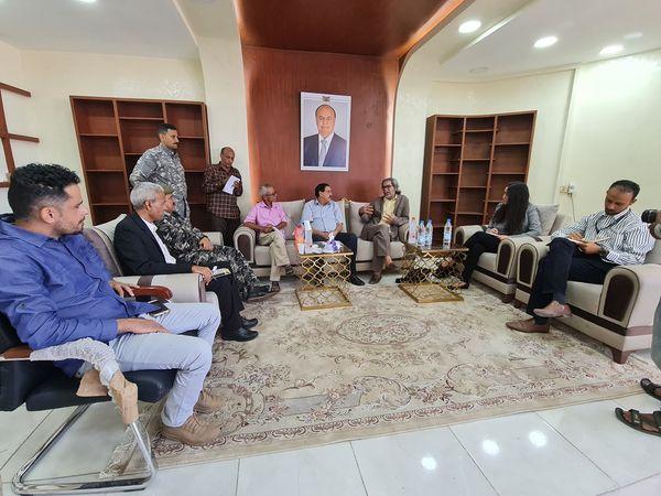 مدير شرطة العاصمة عدن يلتقي مدير مكتب المبعوث الأممي