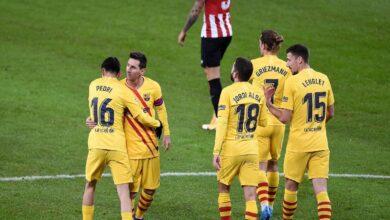 صورة ميسي يتصدر ترتيب هدافي الدوري الإسباني بالتساوي مع لويس سواريز