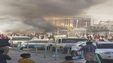 صورة قتلى وجرحى في إنفجار محطة غاز  بالبيضاء