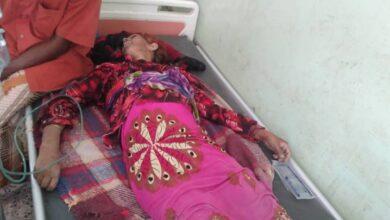 صورة استشهاد مواطنة مسنة بطلق ناري حوثي في حيس