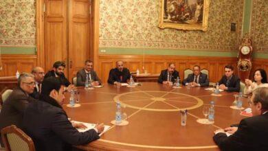 صورة #الرئيس_الزبيدي يجري محادثات في وزارة خارجية #روسيا الاتحادية