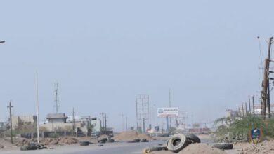 صورة دك ثكنات حوثية داخل مدينة #الحديدة اليمنية
