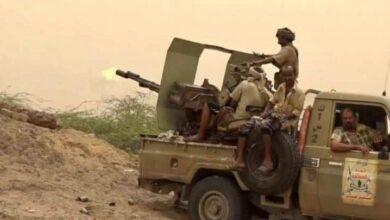 صورة مصرع 3 حوثيين وإصابة آخرين في إحباط محاولة تسلل للمليشيا شرق التحيتا