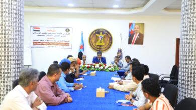 """صورة الدائرة الإعلامية تبدأ ورشة تدريبية في """" مهارات التحرير الصحفي"""" للكوادر الإعلامية بانتقالي العاصمة عدن"""
