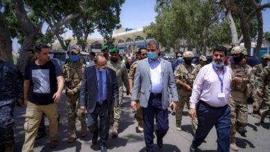 صورة لملس وحُميد يوجهان بفتح الشوارع ورفع الحواجز الاسمنتية لمطار #عدن الدولي