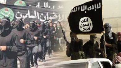 صورة شبوة.. وصول عناصر من تنظيم القاعدة الإرهابي إلى معسكر مره الإخواني