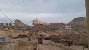 صورة مليشيات الحوثي تفجر منزل مواطن في جُبن
