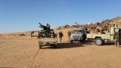 صورة اشتباكات عنيفة بين مليشيا الإخوان وقبائل الأشراف بمأرب