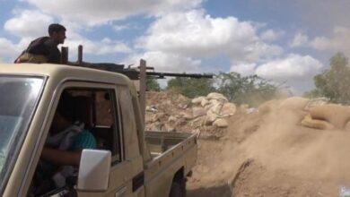 صورة إحباط محاولة تسلل للمليشيات الحوثية شمال غرب #حيس اليمنية وسقوط قتلى وجرحى