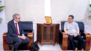 صورة المحافظ لملس يبحث مع المدير التنفيذي لمنظمة بروميدييشين الفرنسية الأوضاع الخدمية والتنموية في العاصمة عدن