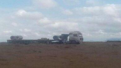 صورة الأجهزة الأمنية بلحج تستعيد شاحنات مسروقة