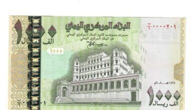 صورة خبير اقتصادي : العملة المطبوعة من فئة 1000 ريال عملة رسمية تكتسب قانونيتها من قوة القانون