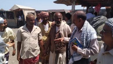 صورة انتقالي لحج يتابع مشكلة تدفق المهاجرين الأفارقة عبر منطقة رأس العارة