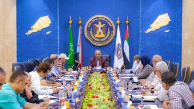 صورة الرئيس الزُبيدي يلتقي أعضاء اللجنة الاقتصادية العُليا للمجلس