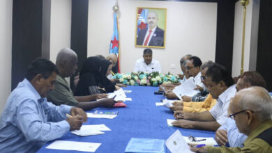 صورة تنفيذية انتقالي العاصمة عدن تستعرض خطة عملها للفصل الثالث من العام 2021