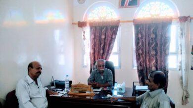 صورة انتقالي لحج يبحث دور نقابة التربويين الجنوبيين بالمحافظة