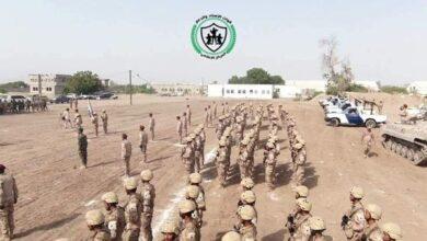 صورة دروع الدعم والإسناد تستعرض قواتها في المرحلة التدريبة الثانية