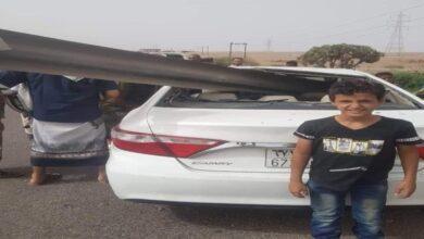 صورة نجاة أسرة من الموت إثر حادث مروع على جسر وادي تبن بـ لحج