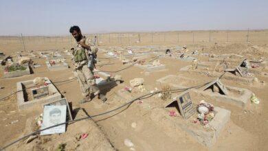 صورة مصرع خبيرين عسكريين إيرانيين في الجوف اليمنية