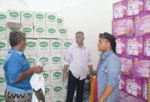 صورة مدير عام المعلا ينفذ نزولاً ميدانياً الى مستودعات المواد الغذائية في  الدكة